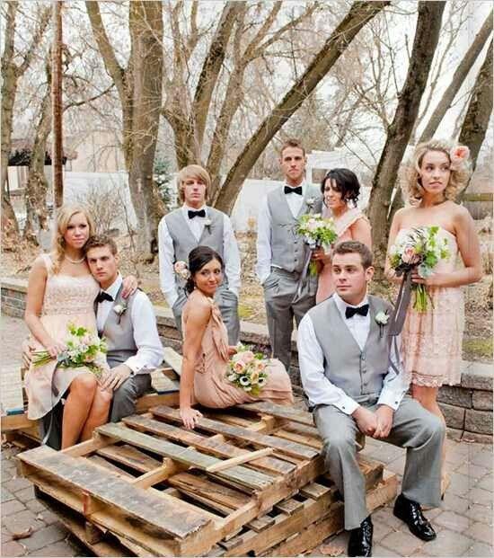 peach and grey wedding   peach and grey - FAV!   Strike a Pose: Weddings (Wedding Party Portra ...