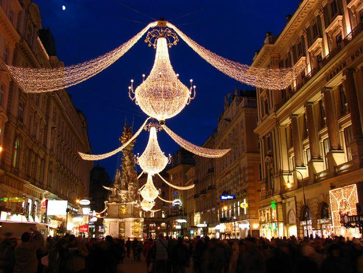 Vienna Austria Christmas Street Where When