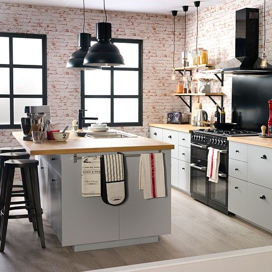 Like the kitchen colour - Urban-retro kitchen | Ideal Home Show 2014 | Ideal Home | Housetohome.co.uk