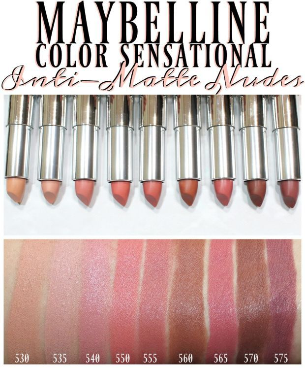 Maybelline Color Sensational Inti-Matte Nudes Lipstick Swatches