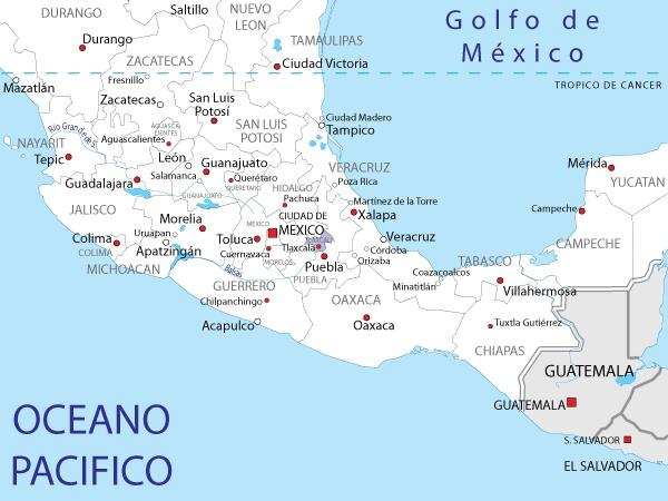 Mapa de Tlaxacala