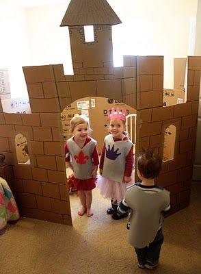Castillo en clase y armaduras