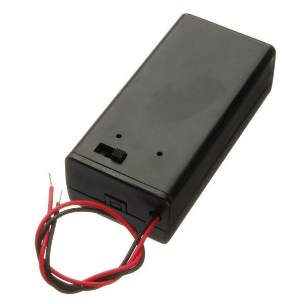 9v Battery Box Pack Holder With On/off Power Switch Toggle Black. 9V Battery Box Pack Holder With ON/OFF Power Switch Toggle Black  Feature:  Easy to remove cover and install battery Cover slides with screw Have OFF / ON switch  Specification:  Material: plastic Color: black Cable length: about 14.5cm  Fitment:  Fit for 9V batteries  Package included:  1 x 9V battery holder with power switch