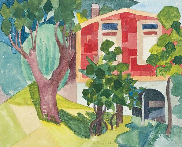 Rotes Haus im Wald, 1922         © Fondazione Hermann Hesse Montagnola