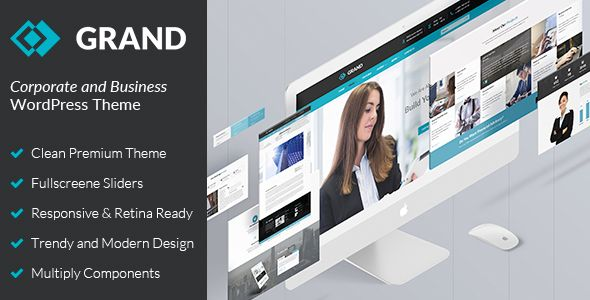 Business & Corporate WordPress Theme - Grand - Business Corporate