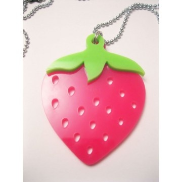 This strawberry pendant is perfect for a young mom - or one who is young at heart. The symbol of spring, a happy shape and colour.