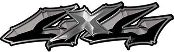 Twisted Series 4x4 Truck Bedside or Fender Emblem Decal Kit in Black