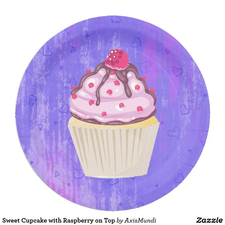 Sweet Cupcake with Raspberry on Top