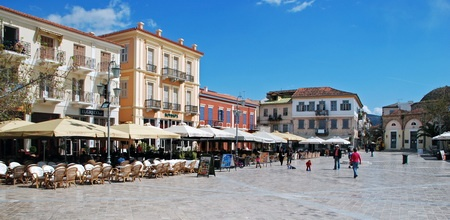 Nafplion, Greece- Loved it here. At in that very exact cafe on the corner there. :-)