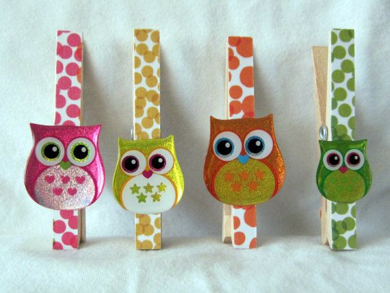 from another etsy crafter: https://www.etsy.com/listing/128493762/fun-owl-clothespin-clip-magnets-set-of-4?ref=shop_home_feat
