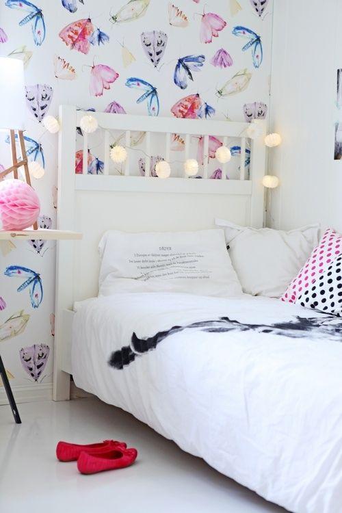 GIRLY DECOR Butterfly Wallpaper KiDS ROOm Pinterest