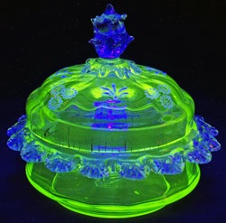 uranium glass ....WOW this is beautiful!!!