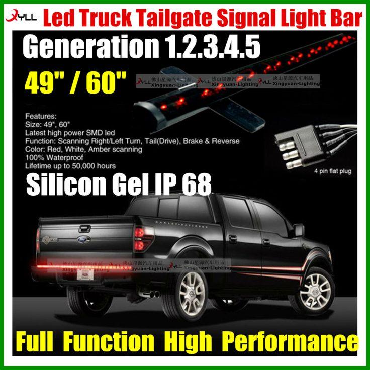 49 in 60 inch 12V led truck tail gate signal light bar /led tailgate light bar for car trucks suv offroad lighting