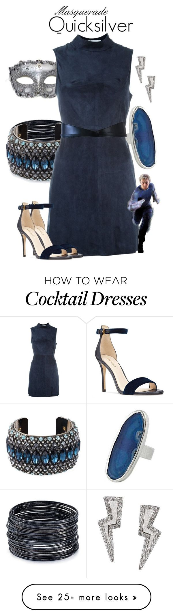 """""""Masquerade: Quicksilver"""" by jivy44 on Polyvore featuring ABS by Allen Schwartz, Masquerade, Lanvin, NOVICA, T By Alexander Wang, Nine West, Chanel and Tessa Packard"""