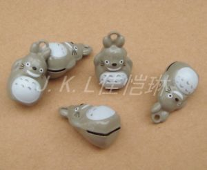 Lot 10pcs My Neighbor Totoro Brass Jingle Bell DIY Charm Key Ring Bag Pendant | eBay