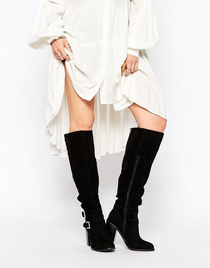 Miss KG Harriet Buckle Heeled Knee Boots