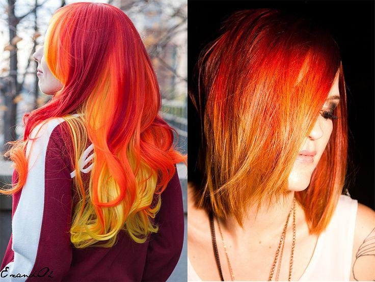 Gelbe Haarfarbe: Sonnige Stimmung  #gelbe #haarfarbe #sonnige #stimmung,