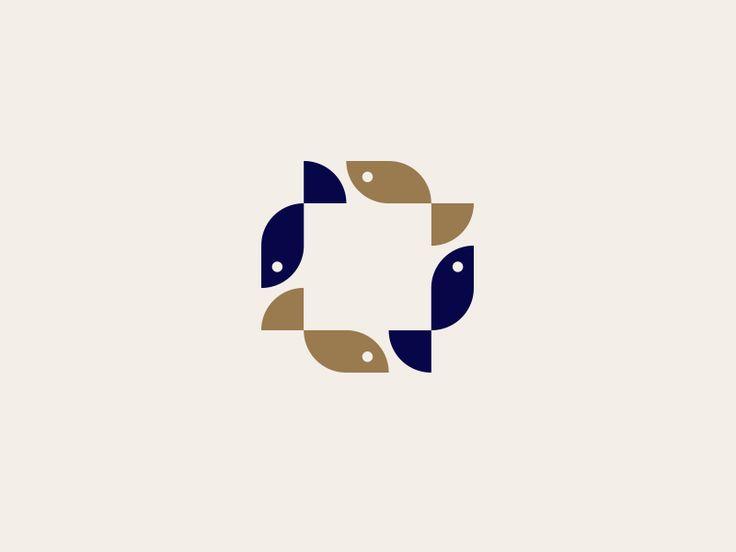Square Fish - Logo concept.