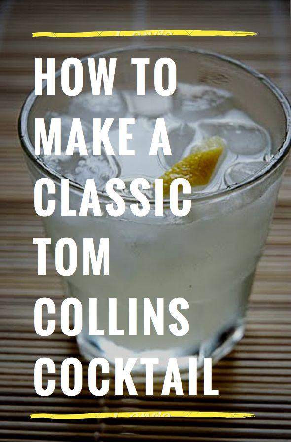 Classic Tom Collins: 2 oz of Gin 1 oz of lemon juice 1 tsp of simple syrup 3 oz of club soda lemon twist
