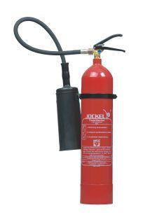 Sauberes Feuerlöschen 5kg CO2 #Feuerlöscher - mit Wandhalter, Standfest mit stabilem Fußring