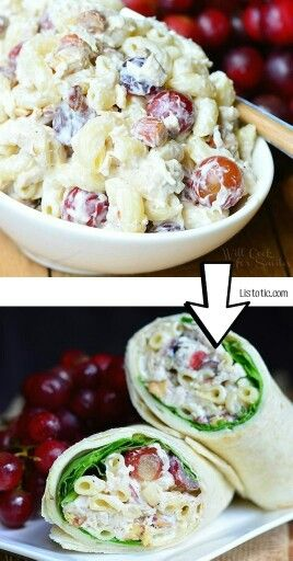 Leftover Pasta Salad Wrap