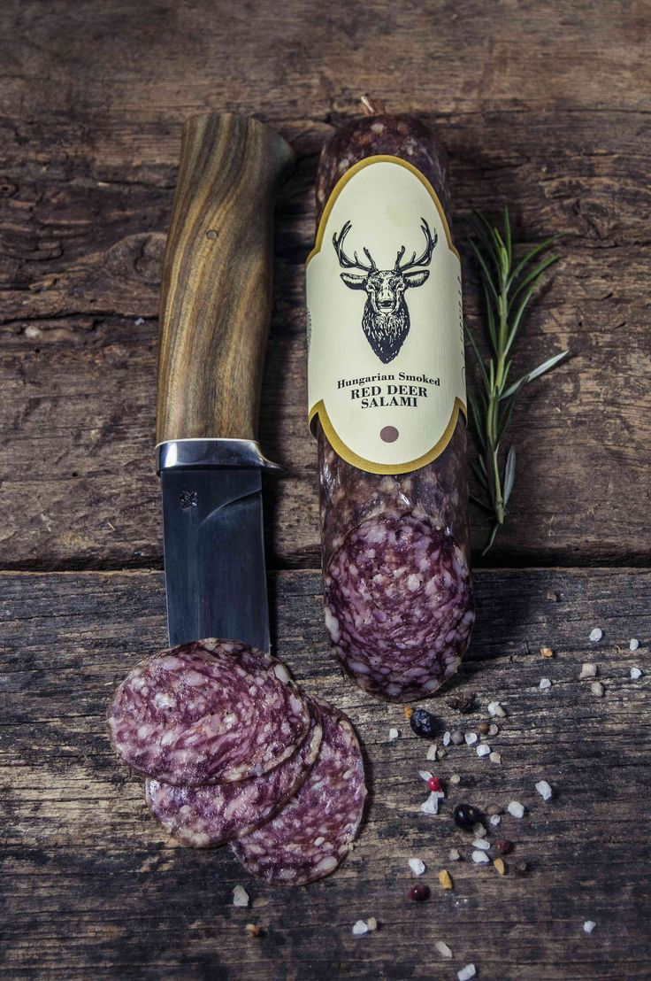 RED DEER SALAMI  Carefully made from Free Range Red Deer Meat with traditional seasonings and smoking. Its complex unique flavour mainly comes from the quality red deer meat and the rose pepper which provides a special gastronomic experience for consumers.