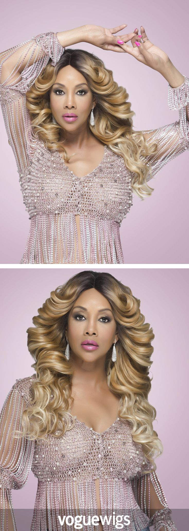 Be a showstopper in the Glam Lace Front Wig by Vivica Fox. The 26 inch long body waves can't help but look glamorous. The best part is that this style is heat friendly so you can change up your look with your mood. Just keep the hot tools between 356 and 392 degrees Fahrenheit to keep the fibers safe and damage free.