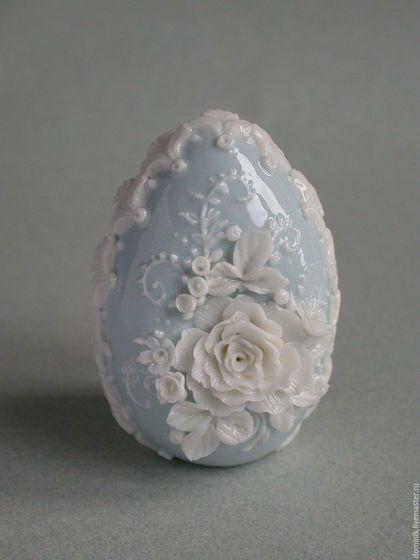 """Подарки на Пасху ручной работы. Ярмарка Мастеров - ручная работа. Купить Пасхальное яйцо """"Нежность"""". Handmade. Голубой, ручная лепка"""