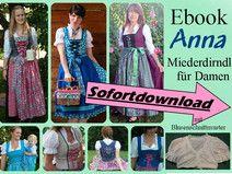Ebook Damenmiederdirndl + Bluse + Schürze ANNA
