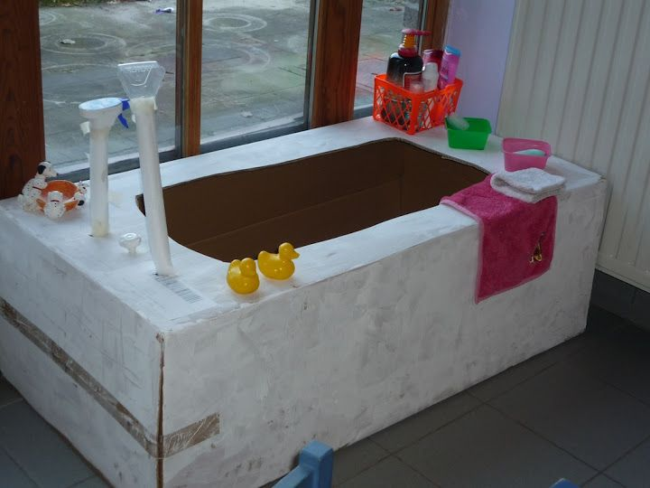 In bad - machtig bad voor in de poppenhoek