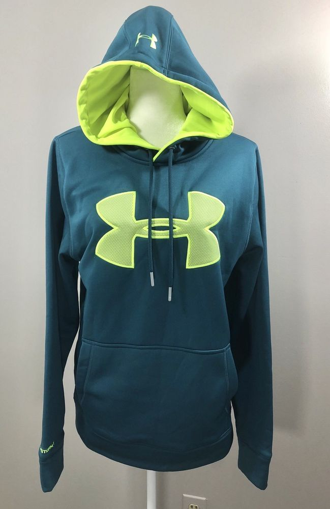 27872379 NWT UNDER ARMOUR MENS SMALL LOOSE FIT BIG LOGO STORM 1 BLUE ...
