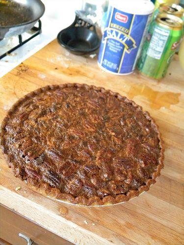 Bourbon bacon pecan pie--definitely has a prominent bacon flavor--if ...