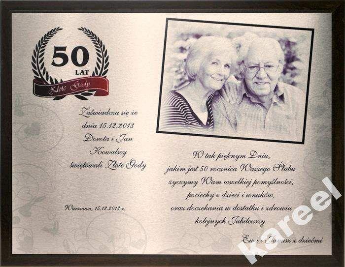 Znalezione obrazy dla zapytania kartka na 50-cio lecie małżeństwa