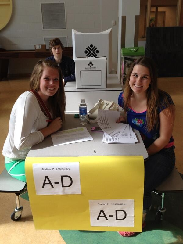 Getting ready for the Student Vote at JL Crowe.