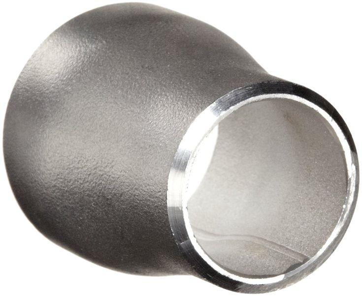 "Stainless Steel 304/304L Pipe Fitting, Concentric Reducer Coupling, Butt-Weld, Schedule 10, 3/4"" X 1/2"" Pipe Size"