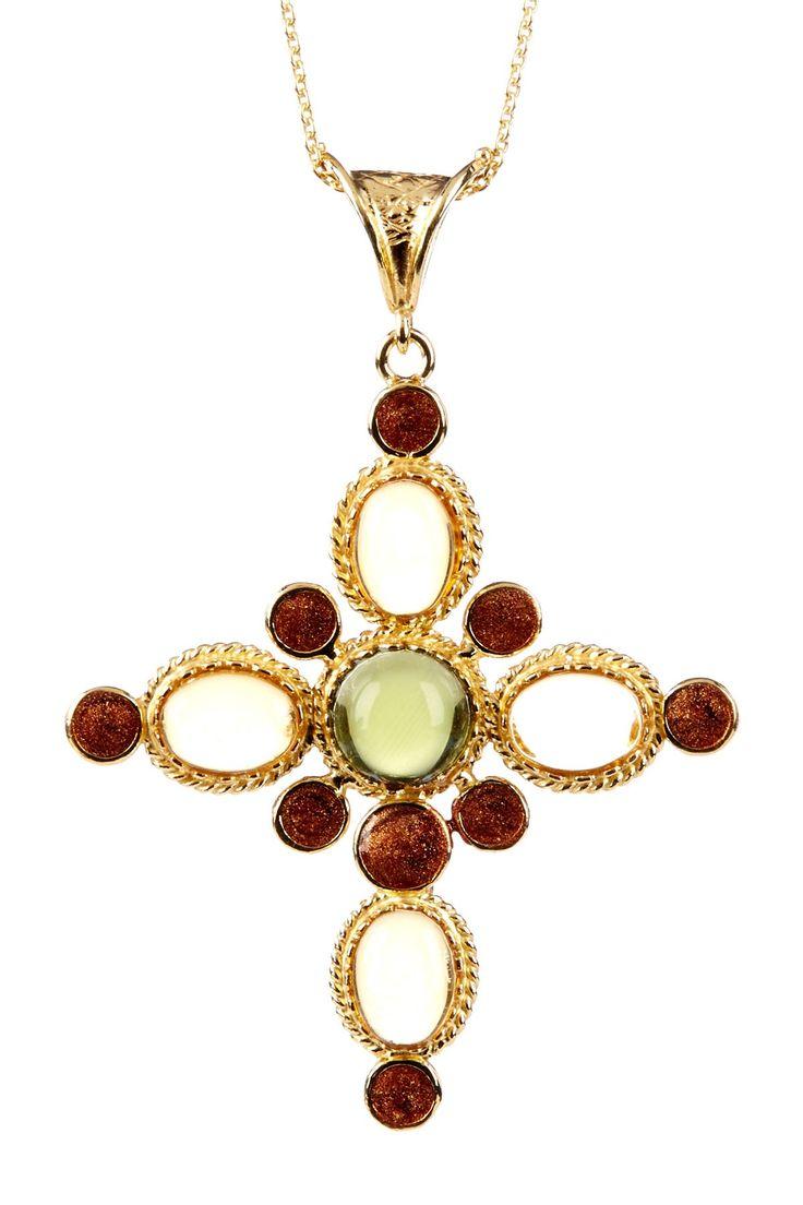 12 best cross pendants images on pinterest cruces colgante de multicolor stone cross pendant necklace on hautelook aloadofball Gallery