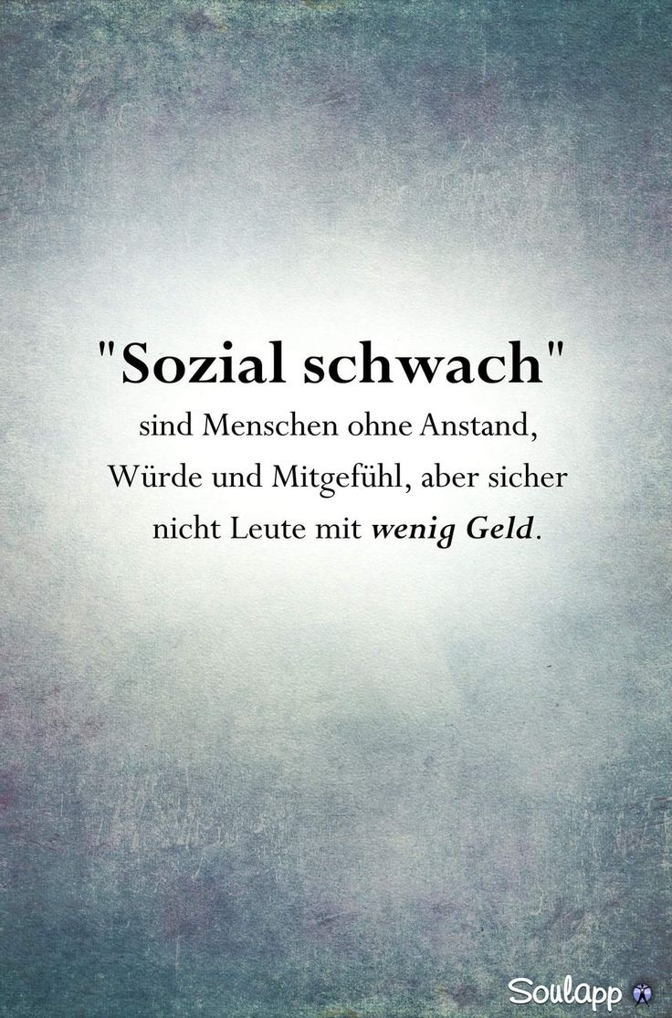 'Sozial schwach'....