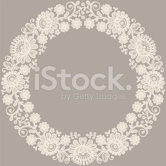 Lace. Circle Frame. royalty-free stock vector art