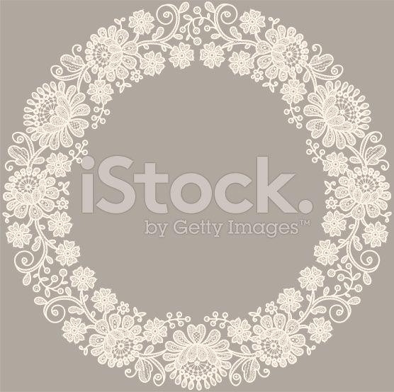 Lace. Circle Frame. royalty-free stock vector art