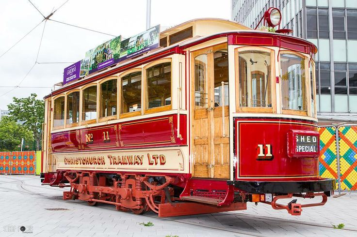This image was taken on the 11th of November, Its currently in the square advertising that the trams will be running again soon :) #christchurch #pictureourcity #tram