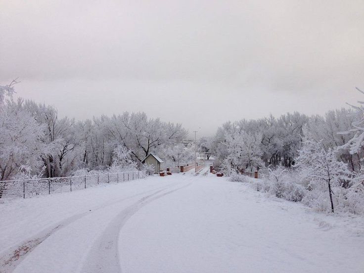 Cottonwood Park after a snowstorm, Colorado City, Arizona, date not specified | Photo by Phil Mackert, St. George News