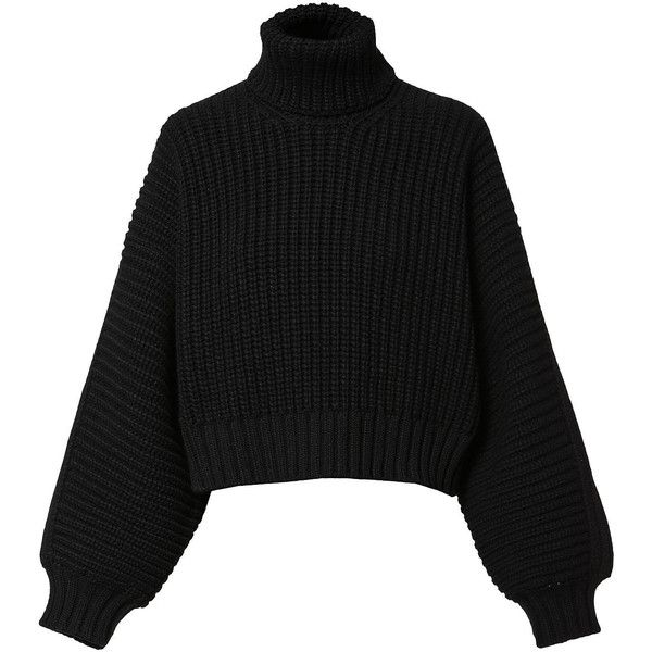 Diesel MEKA Sweaters (£345) ❤ liked on Polyvore featuring tops, sweaters, black, diesel black gold, women, sweater pullover, long sleeve turtleneck, turtle neck sweater, diesel sweaters and long oversized sweaters