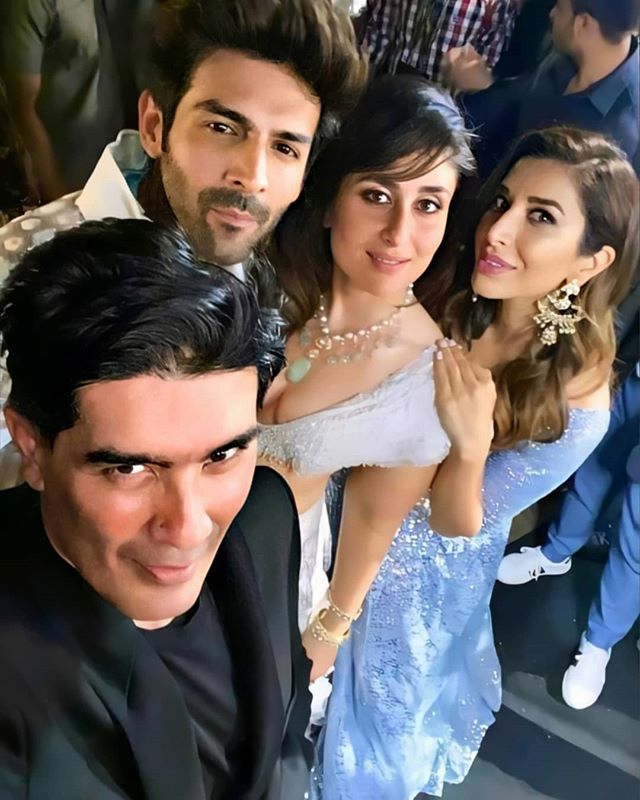 Kareena Kapoor Khan On Instagram Manishmalhotra05 Sophiechoudry Kartikaaryan Bollywood Celebrities Varun Bollywood Party