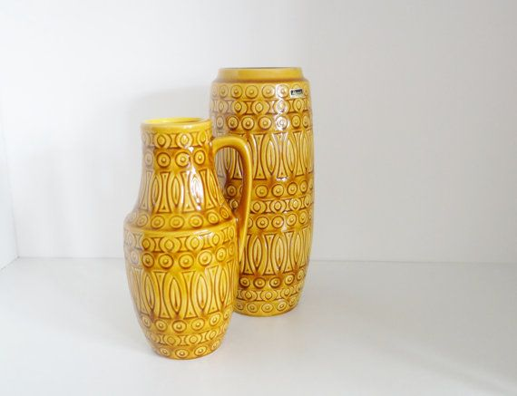 Vintage Set of Two West German Scheurich Patterned by crabtulip, £45.00