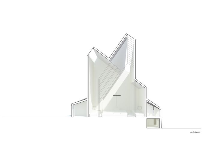 Våler Church competition proposal by Claus Nebelin, 2011