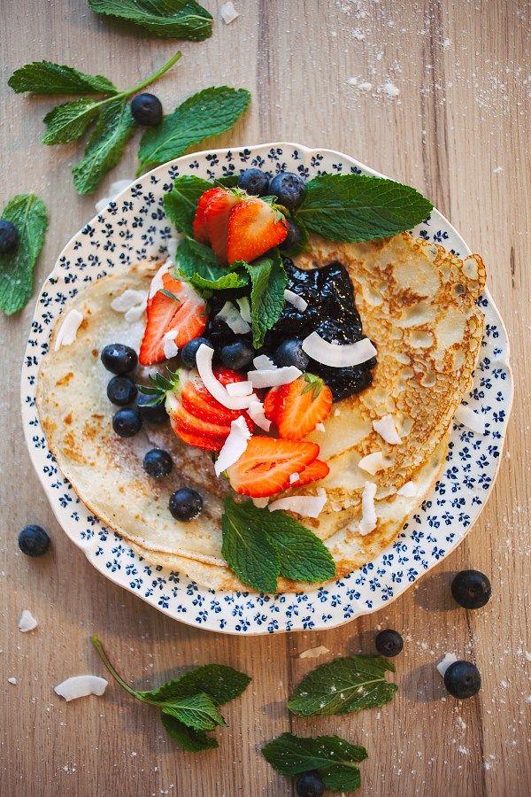 oppskrift på veganske pannekaker uten egg og melk