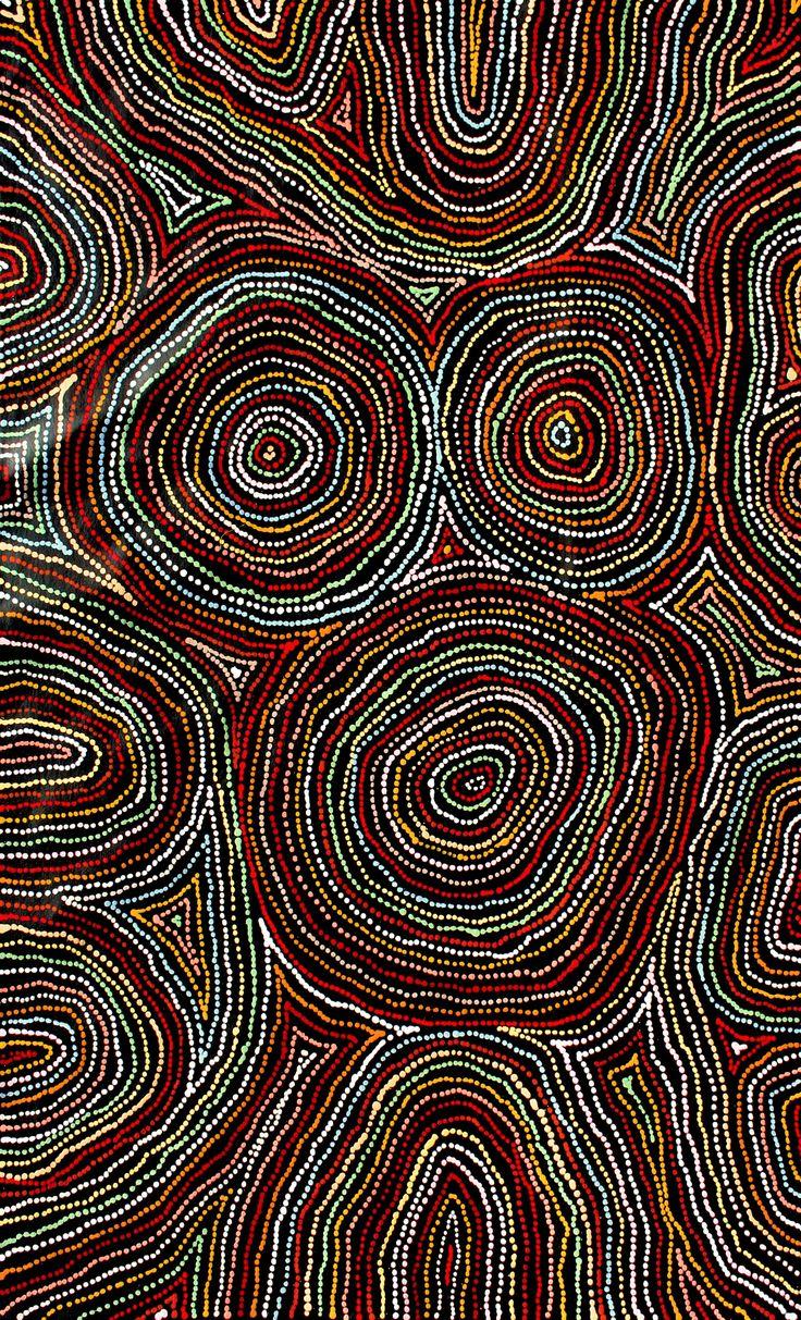 Aboriginal Artwork by Tammy Matthews. Sold through Coolabah Art on eBay. Cataogue ID 17224