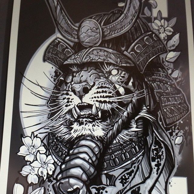 Tiger samurai design | Tattoos | Pinterest | Samurai