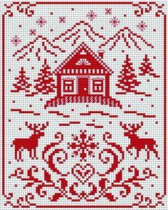 scandinavian cross stitch patterns free - Google Search