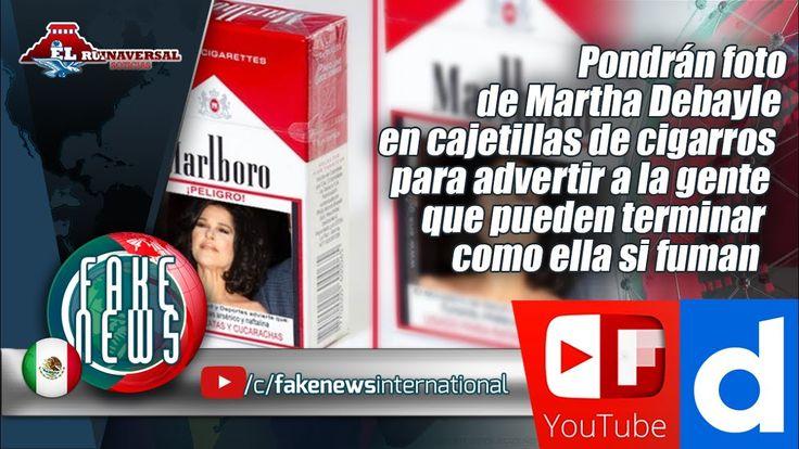 Pondrán foto de Martha Debayle en cajetillas de cigarros para advertir a...